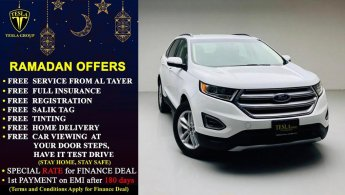 Ford Edge SEL + LEATHER SEATS + BIG SCREEN + AWD / GCC / 2017 / WARRANTY + SERVICE 30/05/2023 / 1,315 DHS P.M.