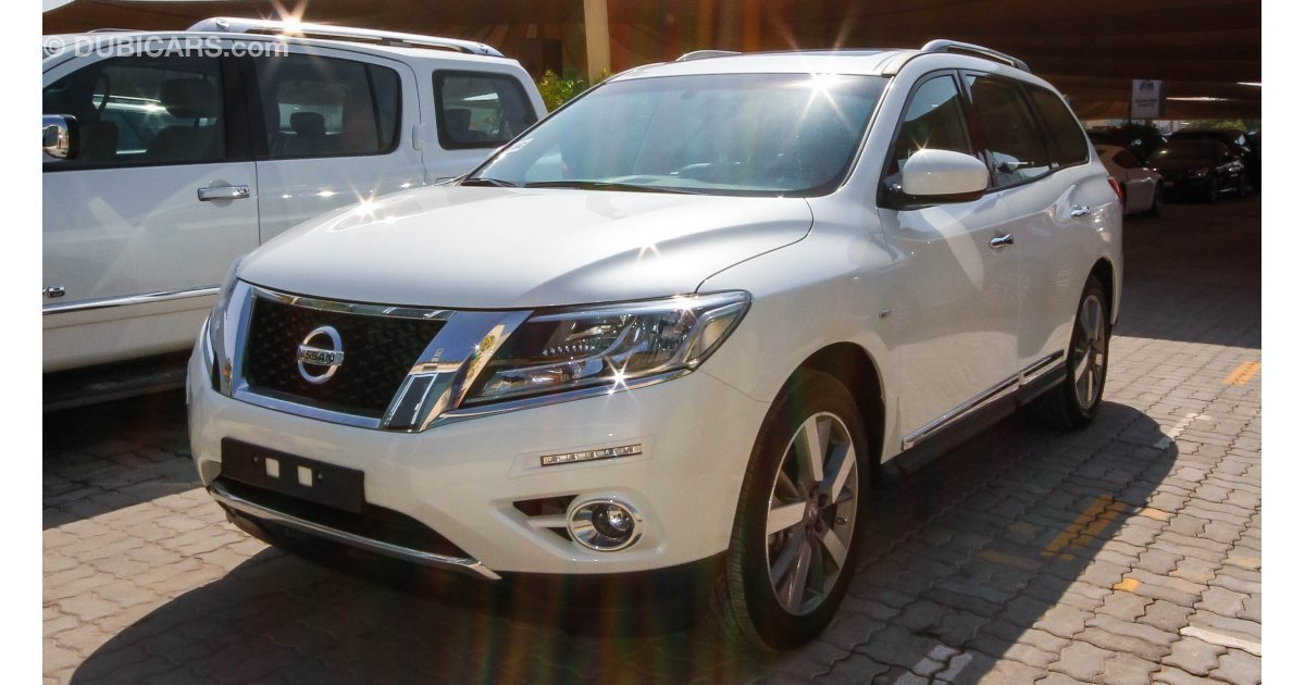 nissan pathfinder sv for sale aed 133 900 white 2016. Black Bedroom Furniture Sets. Home Design Ideas