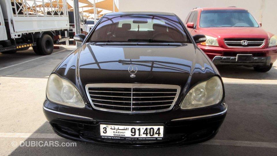 mercedes benz s 350 for sale aed 10 000 black 2003. Black Bedroom Furniture Sets. Home Design Ideas