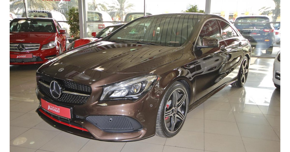 Mercedes benz cla 250 for sale aed 157 900 brown 2018 for Mercedes benz cla 250 for sale