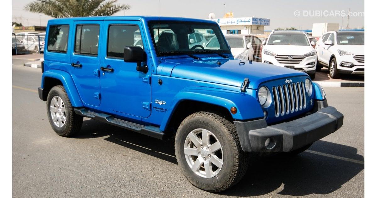 jeep wrangler sahara for sale aed 118 000 blue 2016. Black Bedroom Furniture Sets. Home Design Ideas