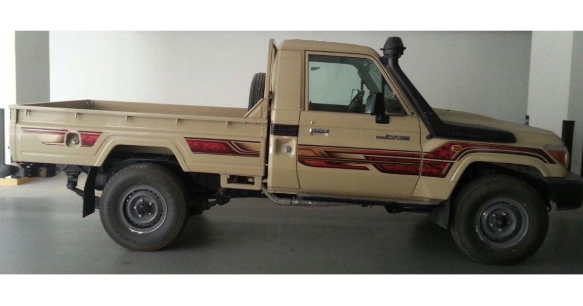 toyota land cruiser pickup diesel single cab only for export for sale beige 2016. Black Bedroom Furniture Sets. Home Design Ideas