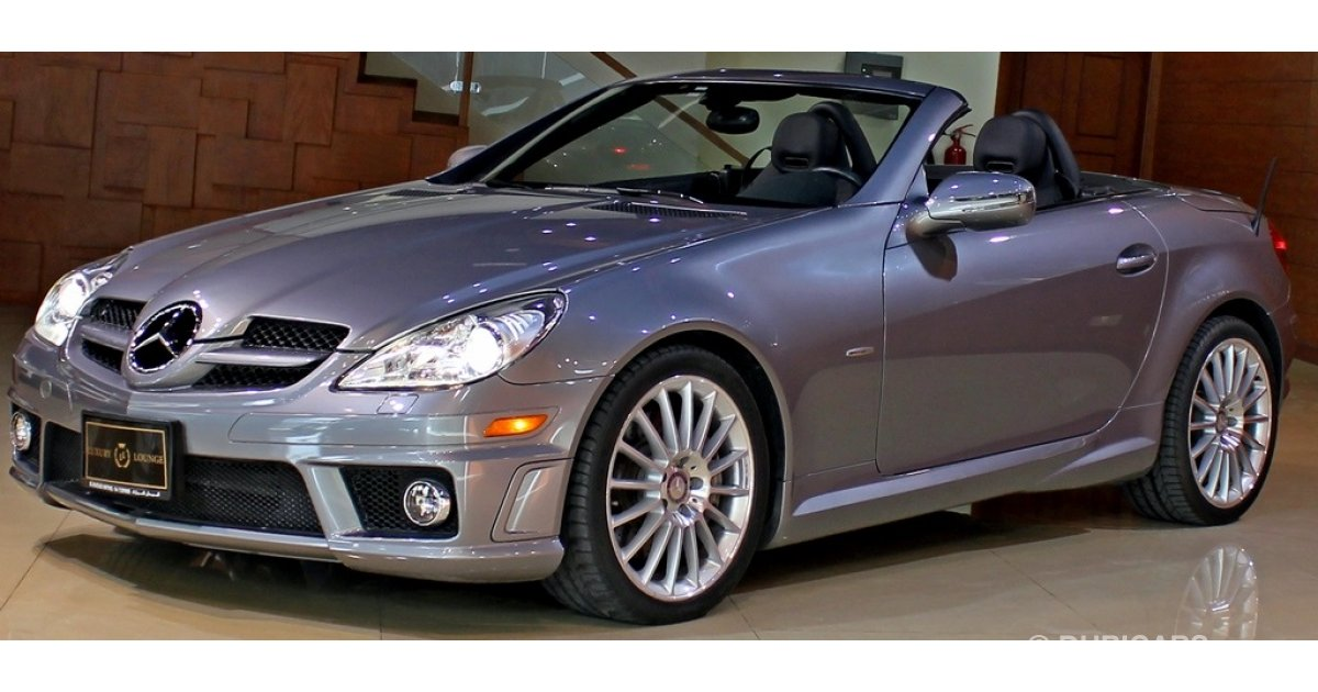 mercedes benz slk 350 amg for sale aed 81 000 grey. Black Bedroom Furniture Sets. Home Design Ideas