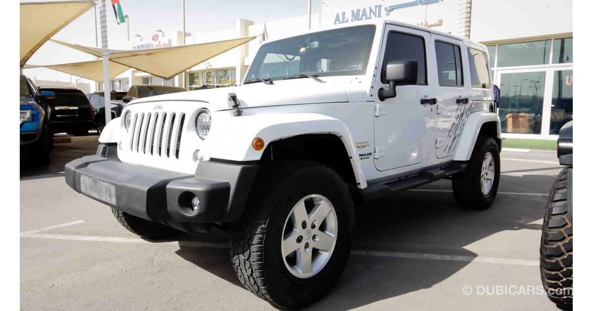jeep wrangler sahara for sale aed 85 000 white 2014. Black Bedroom Furniture Sets. Home Design Ideas