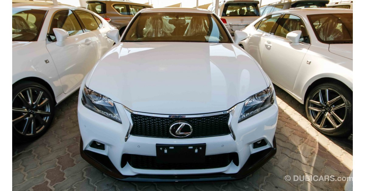 lexus gs 350 f sport for sale aed 115 000 white 2014. Black Bedroom Furniture Sets. Home Design Ideas