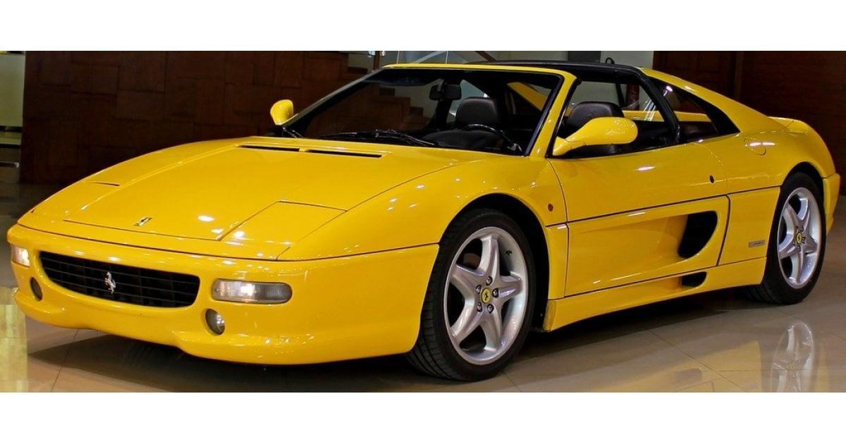 ferrari f355 gts for sale aed 355 000 yellow 1997. Black Bedroom Furniture Sets. Home Design Ideas