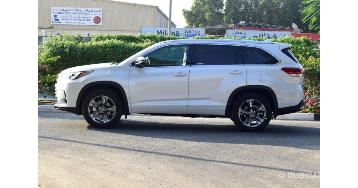 Toyota Highlander For Sale >> Toyota Highlander Limited 3.5L Petrol Automatic for sale. White, 2018
