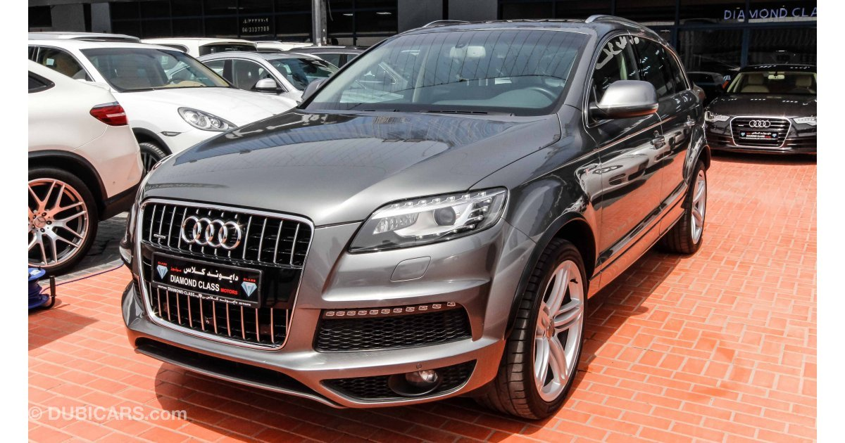 audi q7 supercharged quattro for sale aed 110 000 grey silver 2014. Black Bedroom Furniture Sets. Home Design Ideas