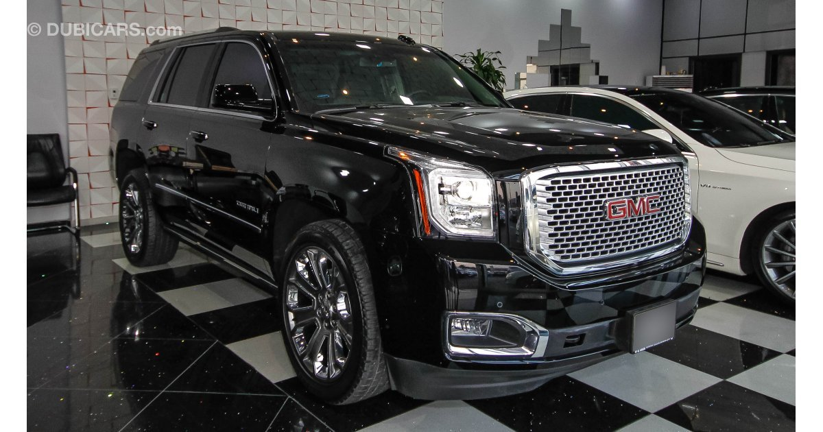 gmc yukon denali for sale aed 225 000 black 2016. Black Bedroom Furniture Sets. Home Design Ideas