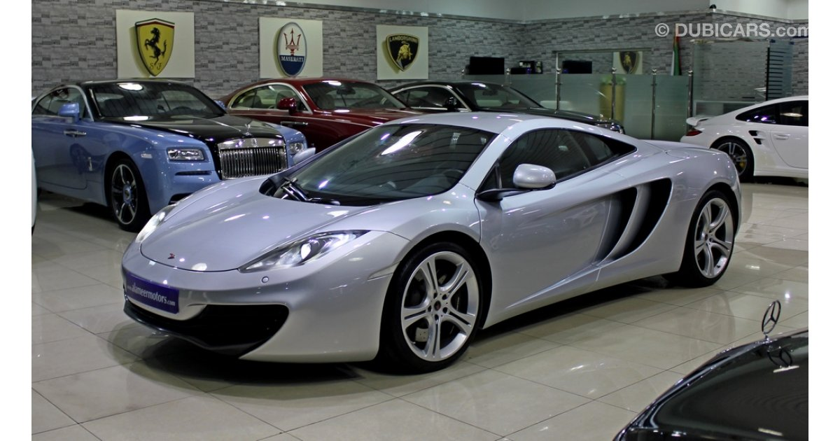 mclaren mp4 12c for sale aed 320 000 grey silver 2012. Black Bedroom Furniture Sets. Home Design Ideas