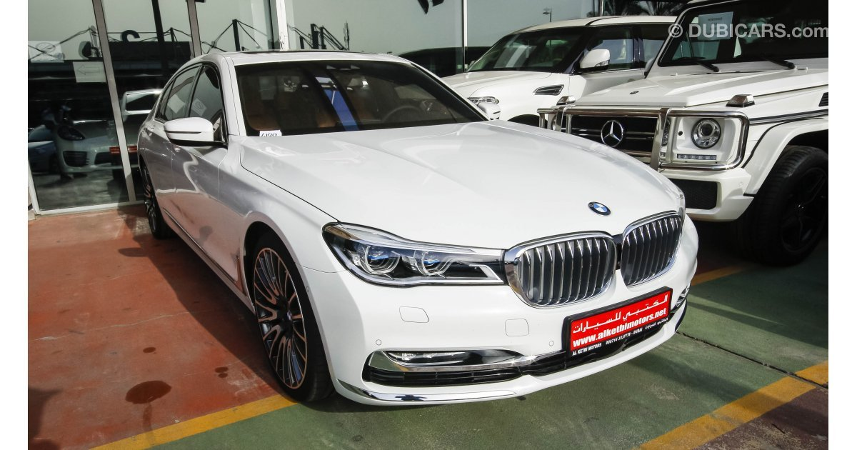bmw 750 li xdrive for sale aed 485 000 white 2016. Black Bedroom Furniture Sets. Home Design Ideas