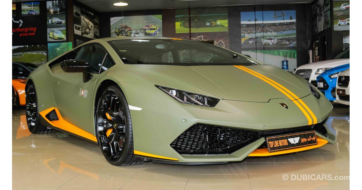 lamborghini huracan lp 610 4 avio v10 limited edition for sale aed 940 000 green 2017. Black Bedroom Furniture Sets. Home Design Ideas