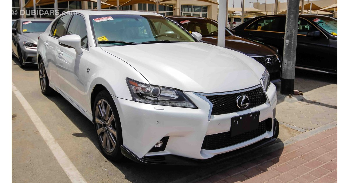 lexus gs 350 f sport for sale aed 105 000 white 2014. Black Bedroom Furniture Sets. Home Design Ideas