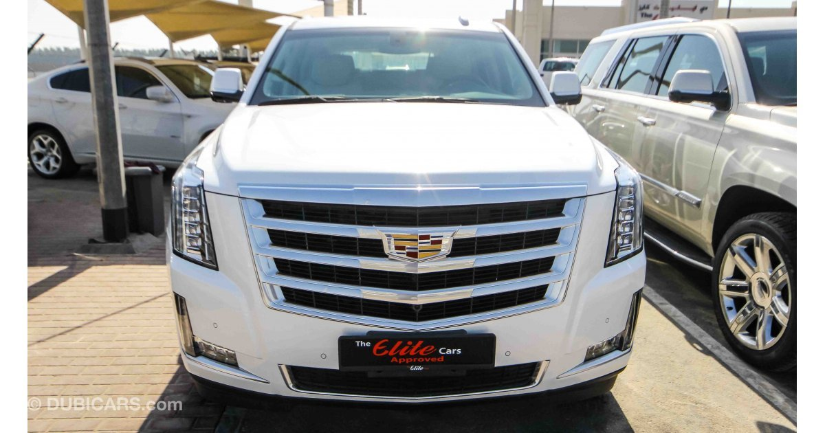cadillac escalade for sale aed 255 000 white 2017. Black Bedroom Furniture Sets. Home Design Ideas