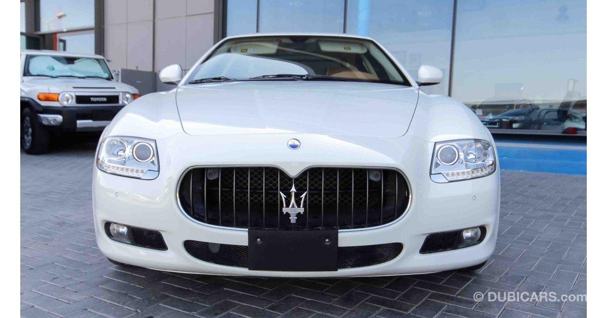 maserati quattroporte for sale aed 128 000 white 2011. Black Bedroom Furniture Sets. Home Design Ideas