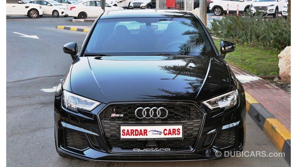 Car Loan Rates >> Audi RS3 Quattro - Al Naboodah Warranty for sale: AED 249,000. Black, 2018