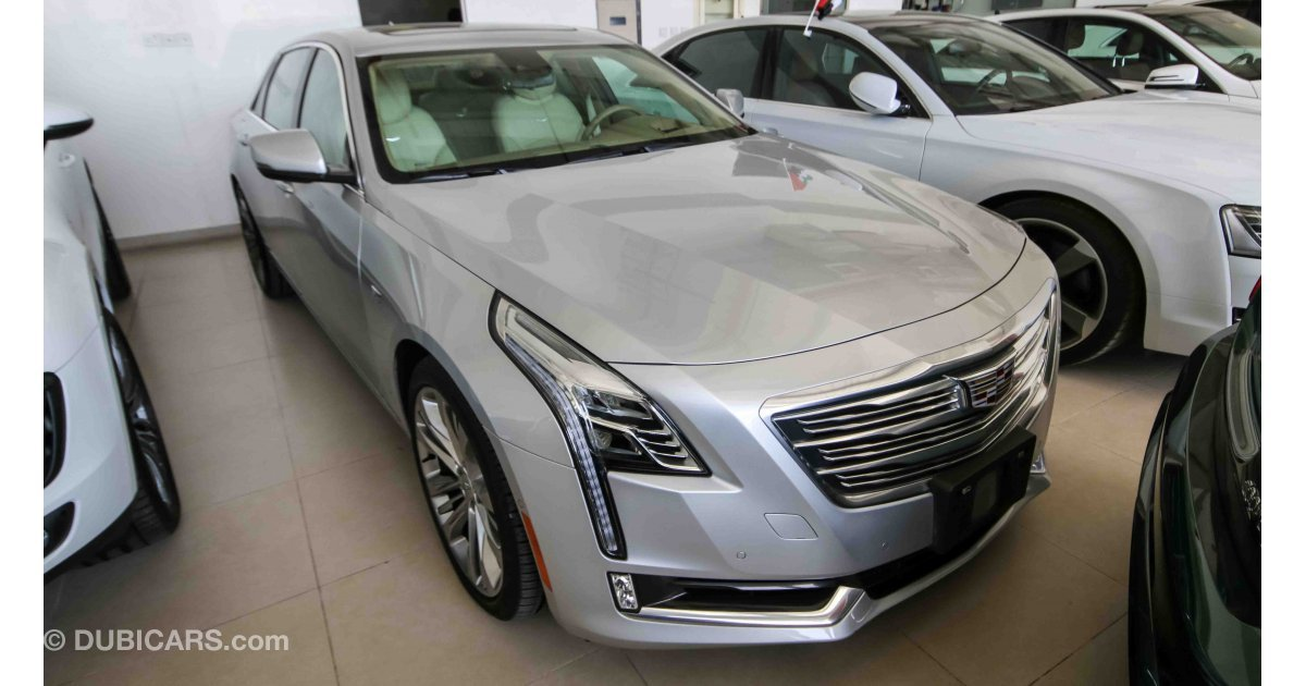 cadillac ct6 3 0t awd for sale aed 179 000 grey silver 2017. Black Bedroom Furniture Sets. Home Design Ideas