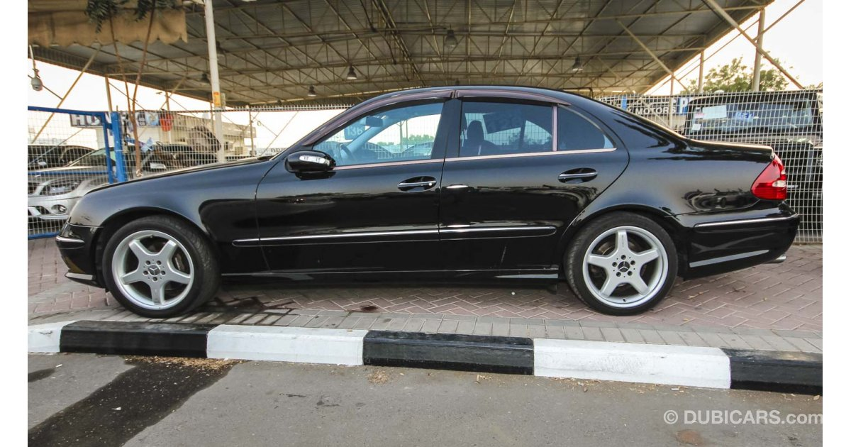 mercedes benz e 500 for sale aed 51 000 black 2006. Black Bedroom Furniture Sets. Home Design Ideas