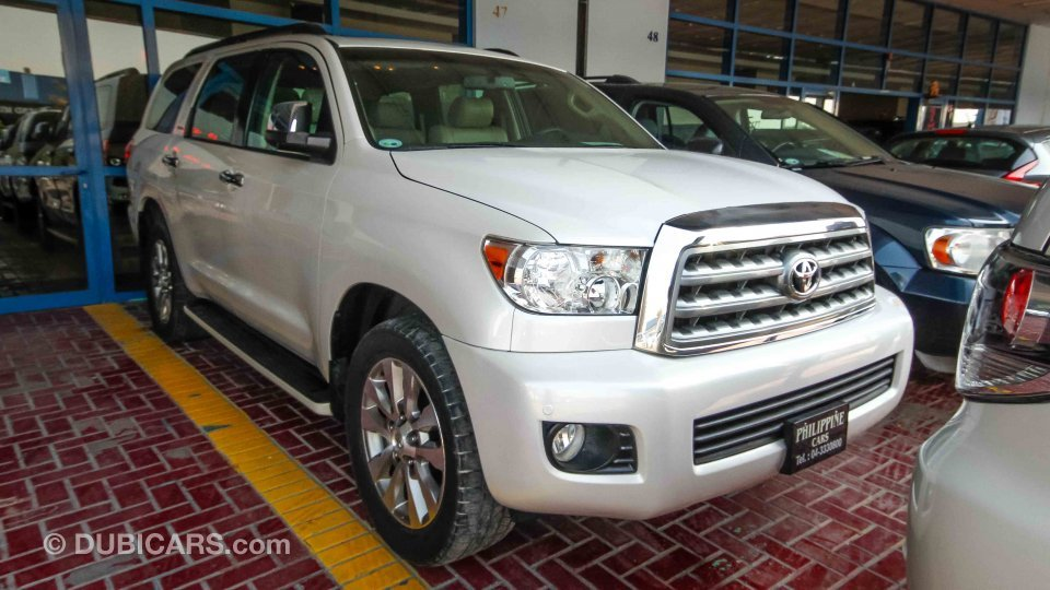 toyota sequoia for sale aed 69 500 white 2009. Black Bedroom Furniture Sets. Home Design Ideas