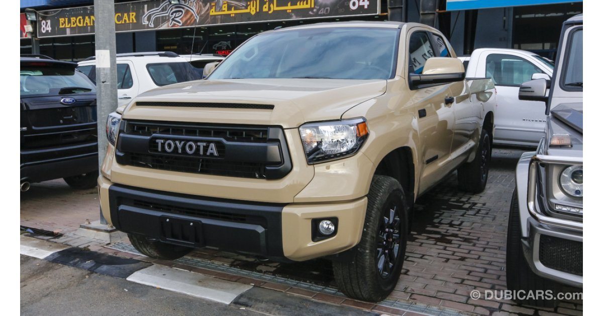 Toyota tundra trd pro for sale aed 199 000 beige 2016 for Toyota tundra motor for sale