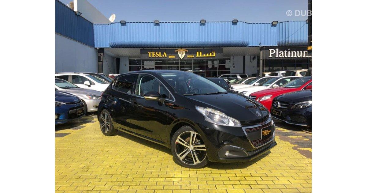 Peugeot 208 Gt Line For Sale Aed 49 000 Black 2016