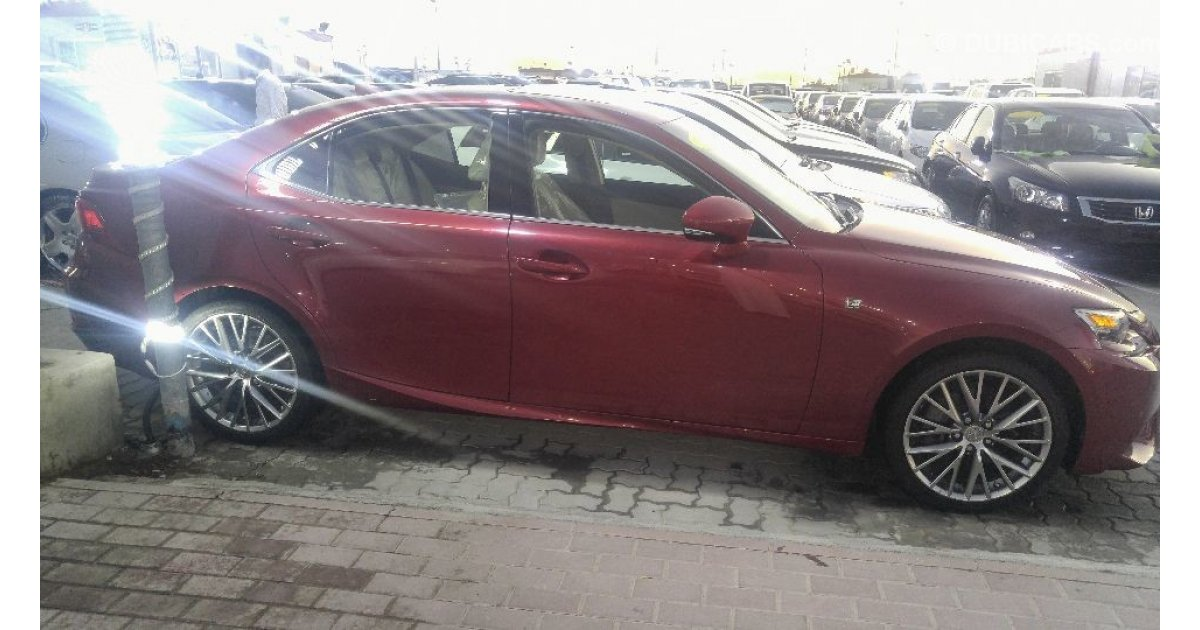 Lexus Is 250 For Sale Aed 70 000 Red 2014