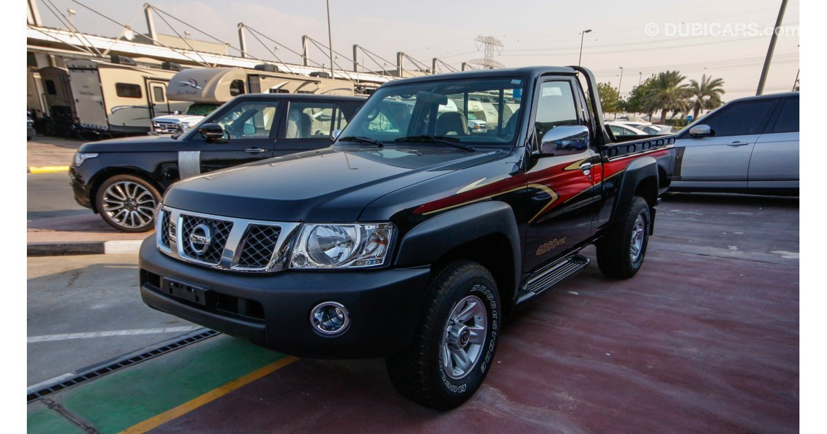 Nissan Patrol Pickup 4800 Vtc For Sale Aed 105 000 Black