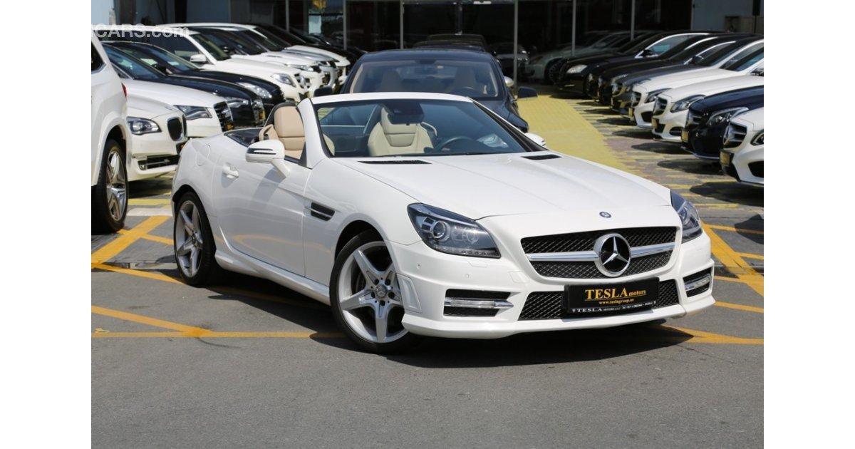 Mercedes benz slk 200 for sale aed 89 000 white 2014 for Mercedes benz slk 200