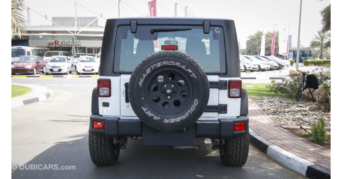 jeep wrangler sport for sale aed 130 000 white 2015. Black Bedroom Furniture Sets. Home Design Ideas