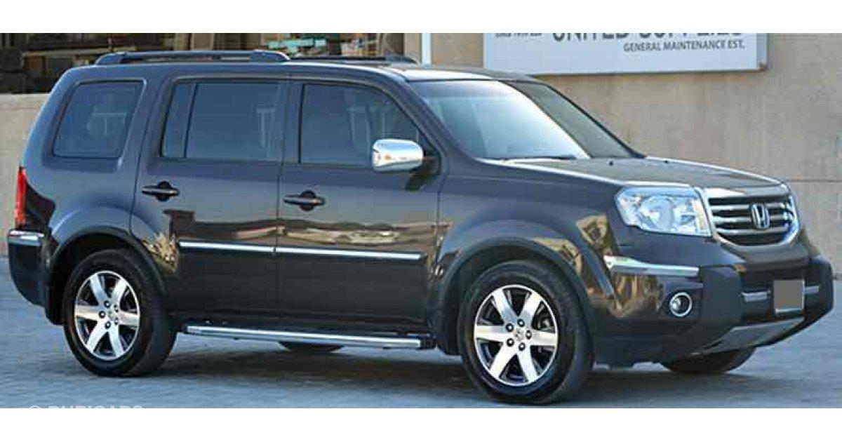 Honda pilot for sale aed 82 500 grey silver 2014 for Silver honda pilot