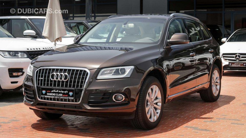 Audi Q5 40TFSI Quattro for sale: AED 89,000. Brown, 2015