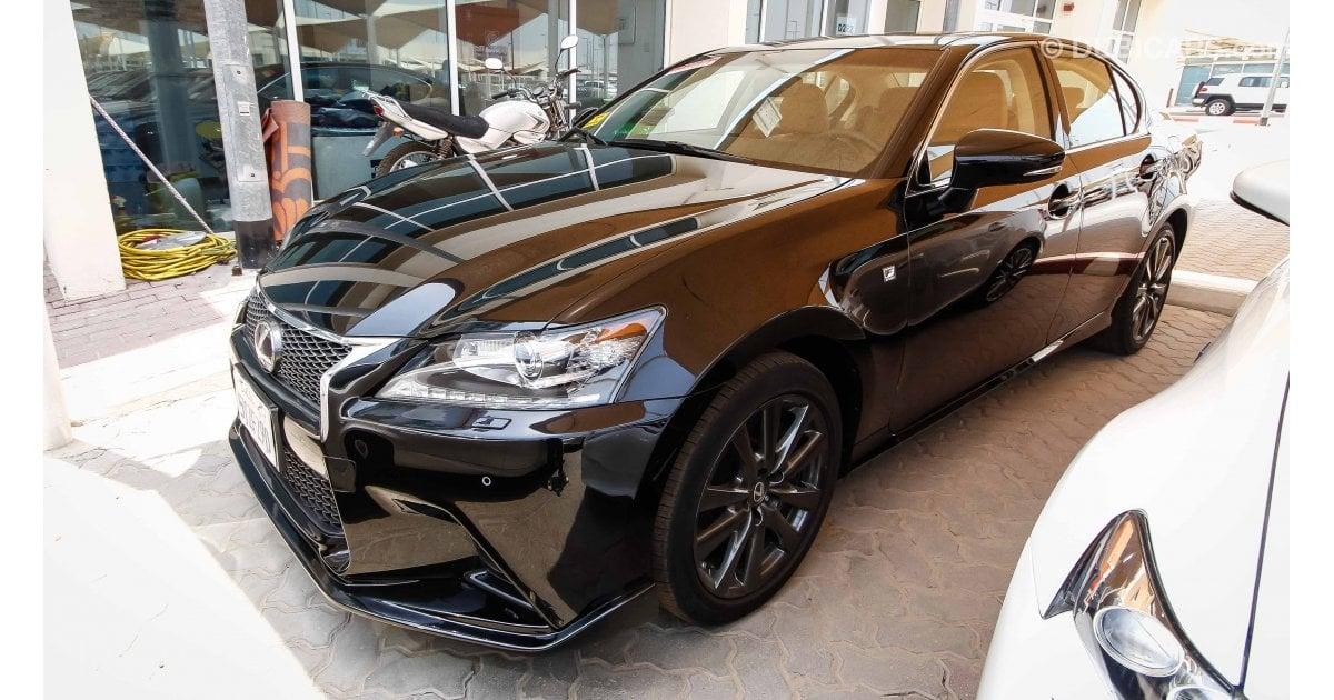 lexus gs 350 fsport for sale aed 110 000 black 2015. Black Bedroom Furniture Sets. Home Design Ideas