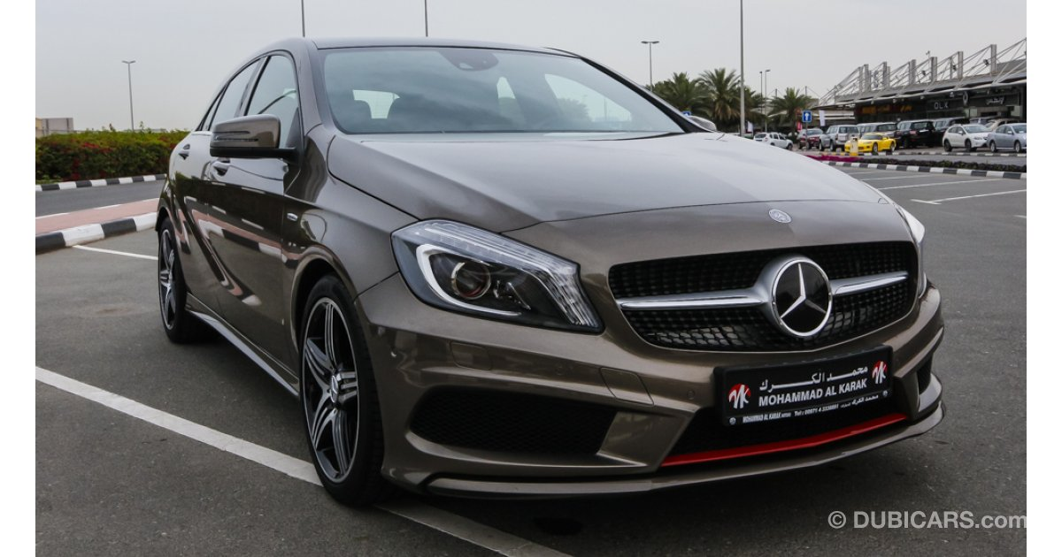 mercedes benz a 250 amg for sale aed 105 000 brown 2014. Black Bedroom Furniture Sets. Home Design Ideas