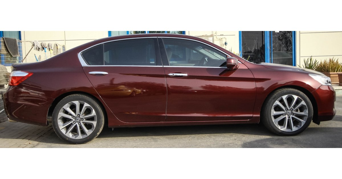 honda accord sport for sale aed 100 000 burgundy 2014. Black Bedroom Furniture Sets. Home Design Ideas