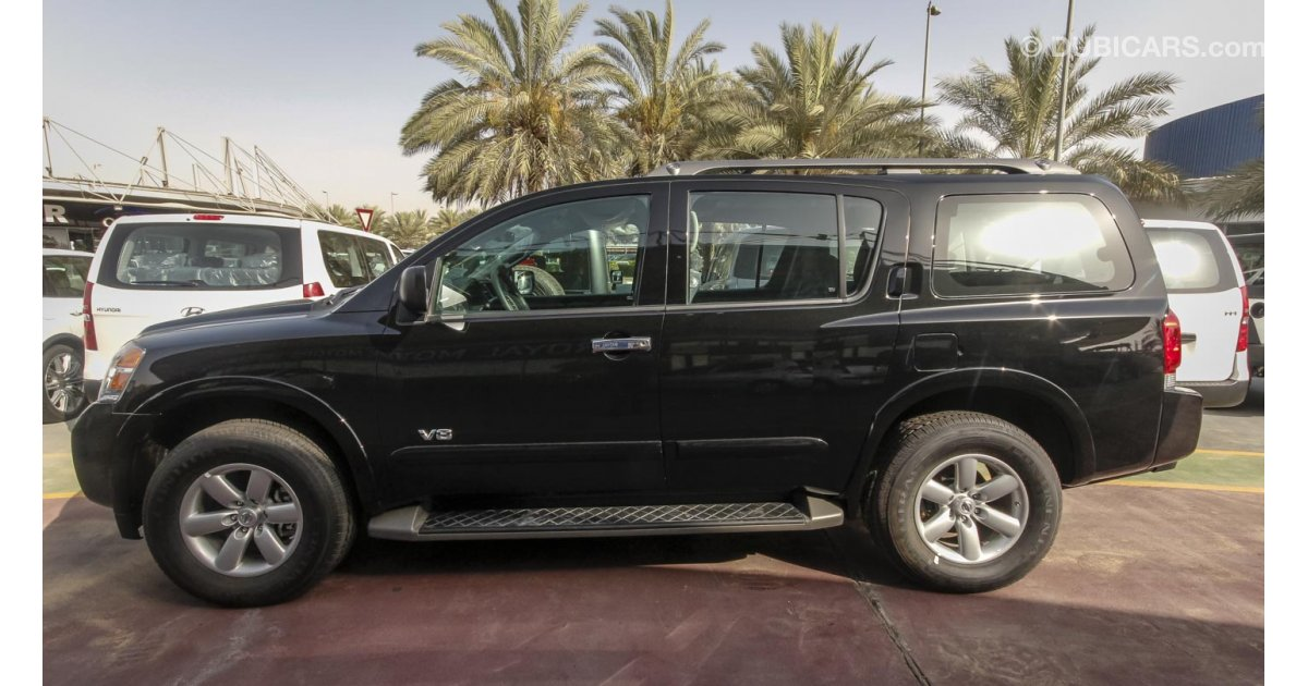 nissan armada se for sale aed 139 000 black 2015. Black Bedroom Furniture Sets. Home Design Ideas
