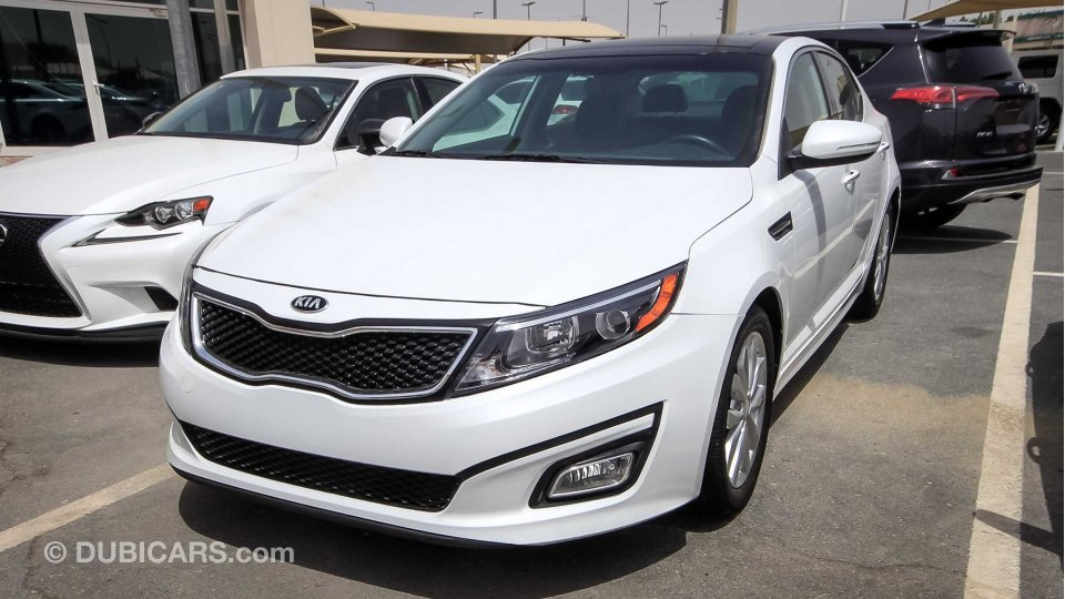 kia optima ex gdi for sale aed 45 000 white 2015. Black Bedroom Furniture Sets. Home Design Ideas