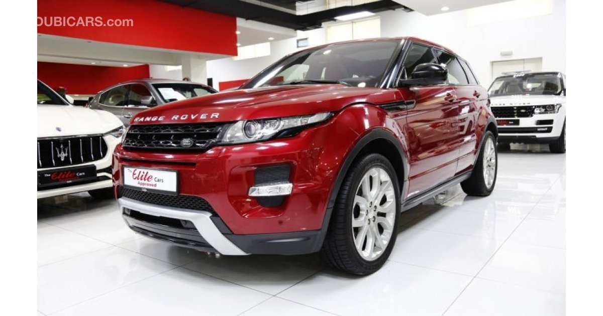 land rover range rover evoque dynamic for sale aed 129 000 red 2015. Black Bedroom Furniture Sets. Home Design Ideas