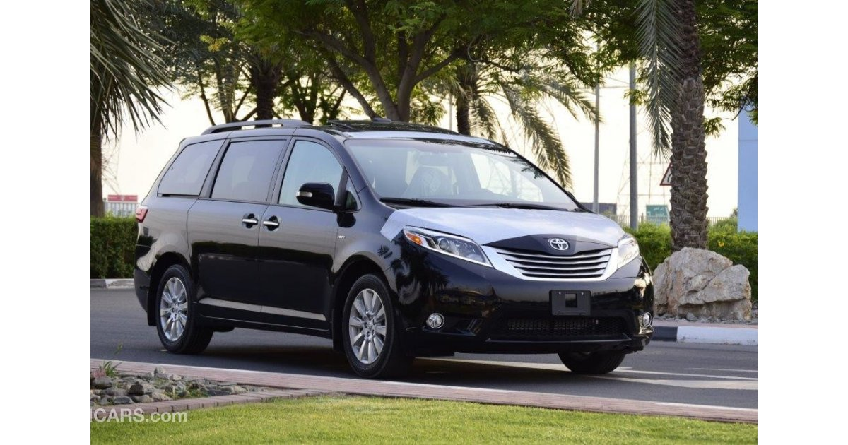 toyota sienna xle limited awd 3 5l pet at for sale black 2017. Black Bedroom Furniture Sets. Home Design Ideas