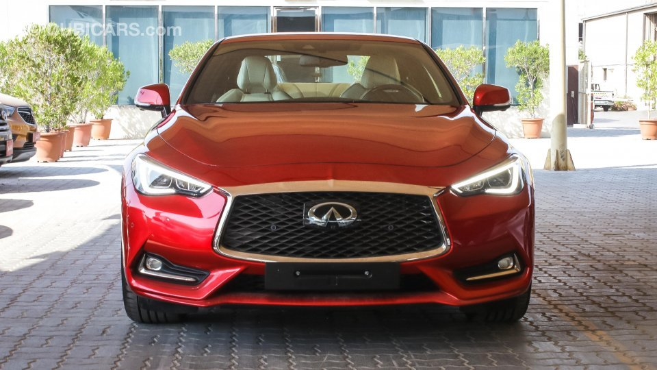 infiniti q60 for sale aed 134 900 red 2017. Black Bedroom Furniture Sets. Home Design Ideas
