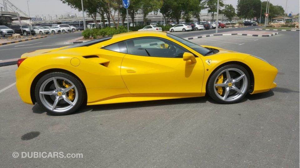 Ferrari 488 for sale: AED 630,000. Yellow, 2016