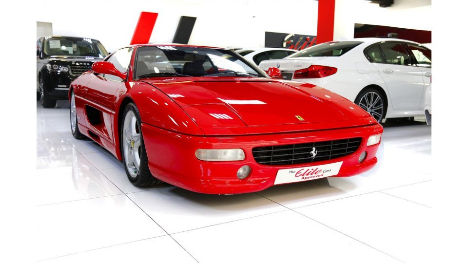ferrari f355 berlinetta for sale: aed 579,000. red, 1998