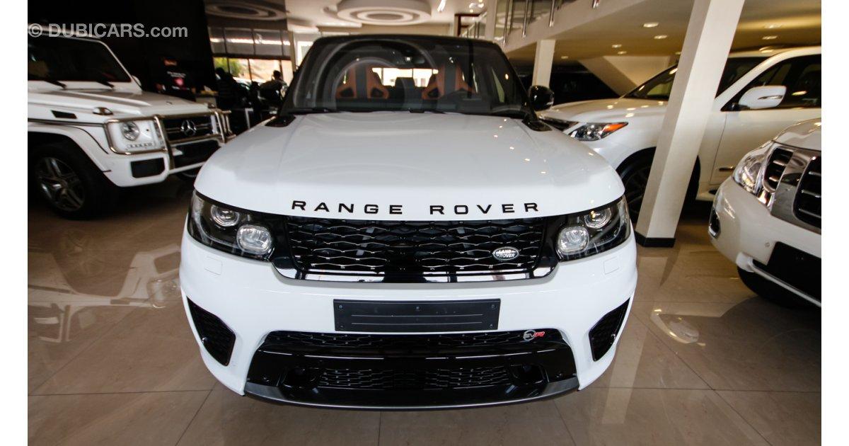 land rover range rover sport svr for sale aed 543 000 white 2015. Black Bedroom Furniture Sets. Home Design Ideas