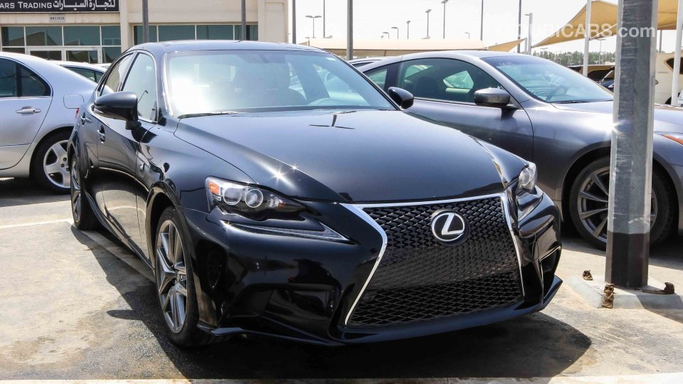 Lexus Is 250 Fsport For Sale Aed 90 000 Black 2015