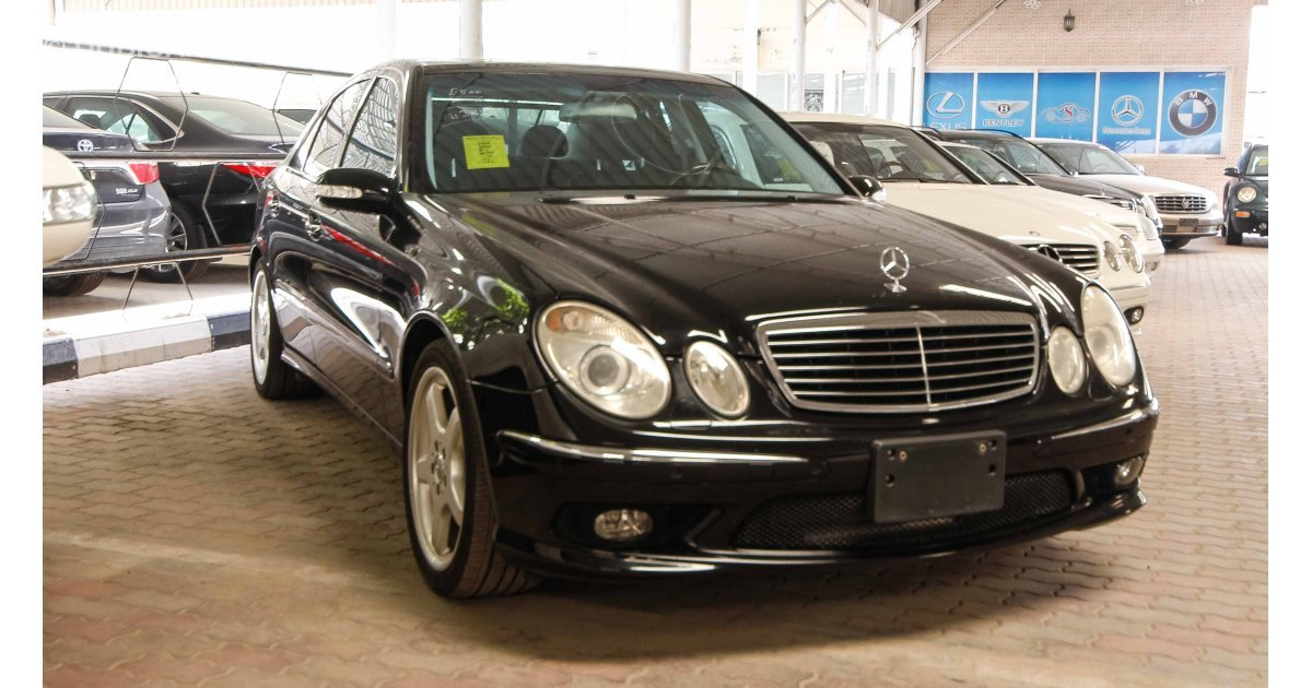 mercedes benz e 500 for sale aed 36 000 black 2006. Black Bedroom Furniture Sets. Home Design Ideas