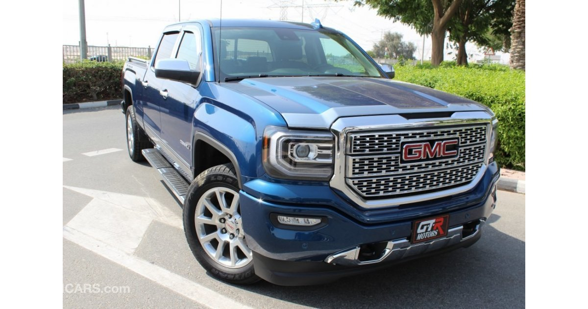 gmc sierra denali for sale aed 155 000 blue 2016. Black Bedroom Furniture Sets. Home Design Ideas