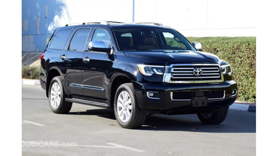 Toyota Sequoia PLATINUM 5.7L PETROL 4WD AUTOMATIC for sale. Black, 2019
