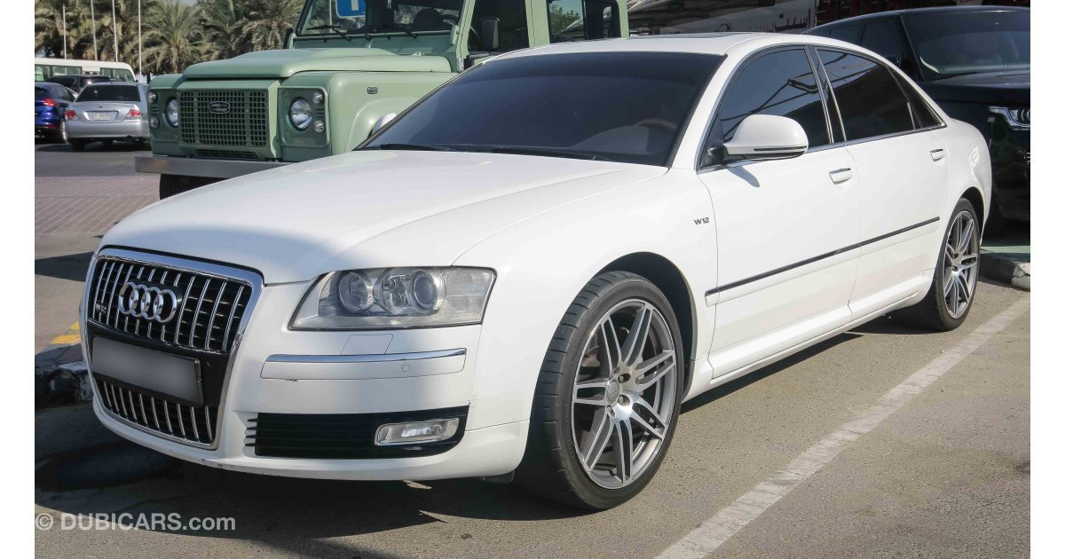 audi a8 l w12 quattro for sale aed 65 000 white 2010. Black Bedroom Furniture Sets. Home Design Ideas