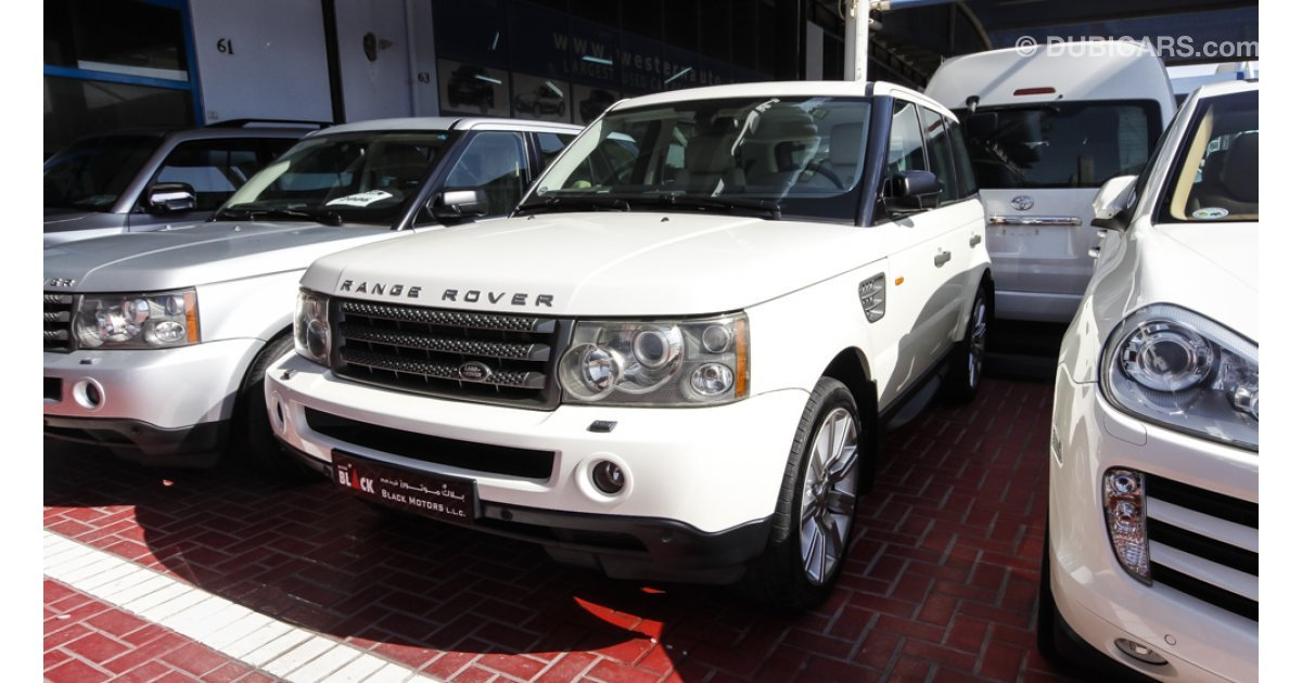 land rover range rover sport supercharged for sale aed 59 500 white 2006. Black Bedroom Furniture Sets. Home Design Ideas