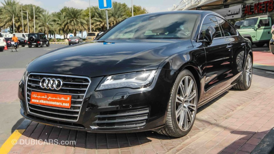 audi a7 3 0 t for sale aed 79 000 black 2011. Black Bedroom Furniture Sets. Home Design Ideas