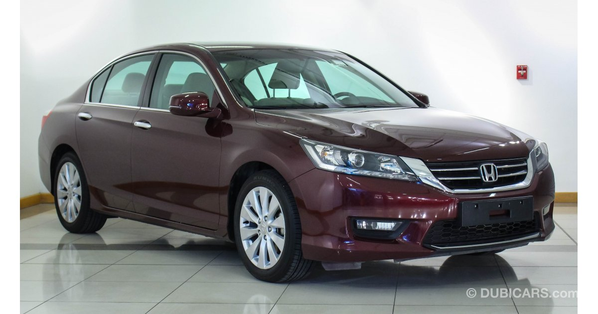 Honda accord for sale aed 86 900 burgundy 2014 for Burgundy honda accord